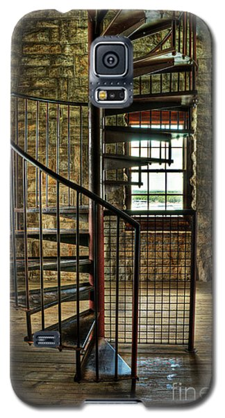Galaxy S5 Case featuring the photograph Tucker's Tower Spiral Staircase by Tamyra Ayles