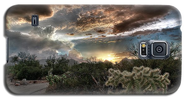 Tucson Mountain Sunset Galaxy S5 Case by Lynn Geoffroy