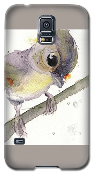 Galaxy S5 Case featuring the painting Tufted Titmouse by Dawn Derman