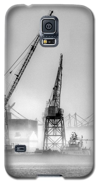 Tug With Cranes Galaxy S5 Case