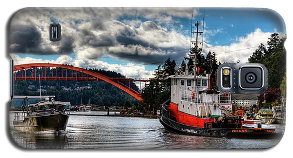 Tugboat At The Rainbow Bridge Galaxy S5 Case by David Patterson