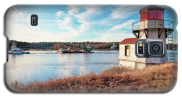 Tugboat, Squirrel Point Lighthouse Galaxy S5 Case