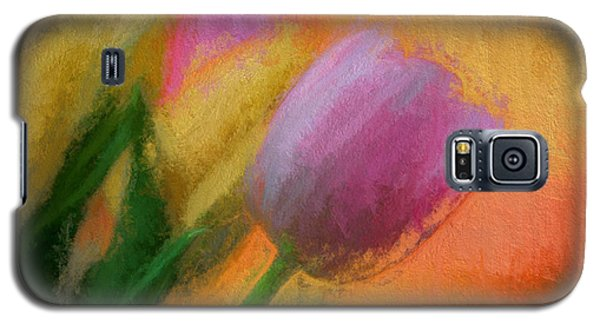 Tulip Abstraction Galaxy S5 Case by TK Goforth