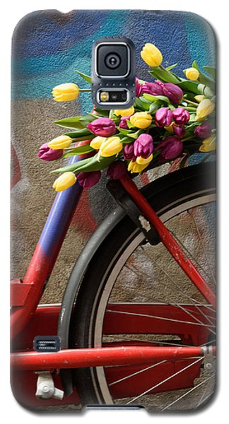 Galaxy S5 Case featuring the photograph Tulip Bike by Phyllis Peterson