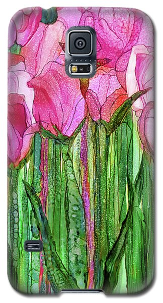 Galaxy S5 Case featuring the mixed media Tulip Bloomies 1 - Pink by Carol Cavalaris