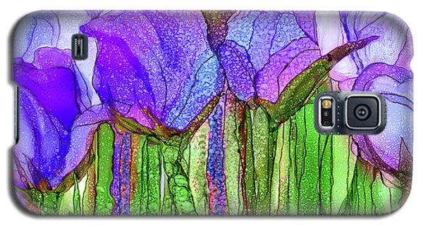 Galaxy S5 Case featuring the mixed media Tulip Bloomies 4 - Purple by Carol Cavalaris
