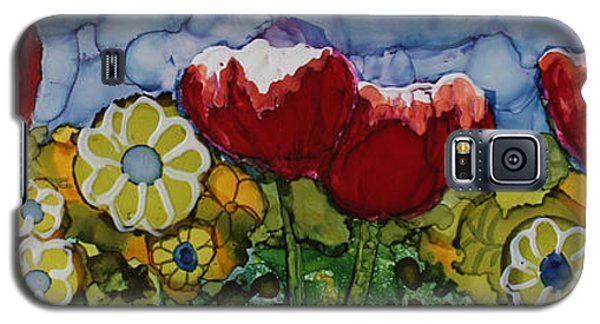 Galaxy S5 Case featuring the painting Tulip Bonanza by Suzanne Canner