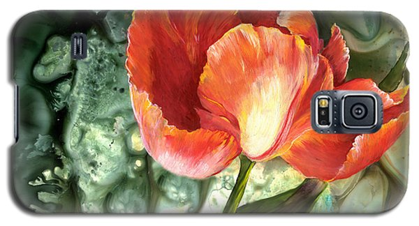 Galaxy S5 Case featuring the painting Tulip Dance by Sherry Shipley