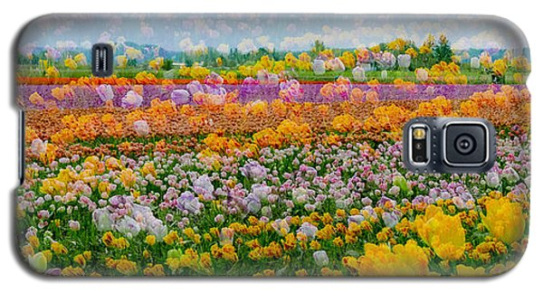 Galaxy S5 Case featuring the photograph Tulip Dreams by Tom Vaughan