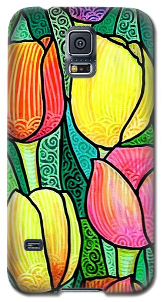 Galaxy S5 Case featuring the painting Tulip Expo by Jim Harris