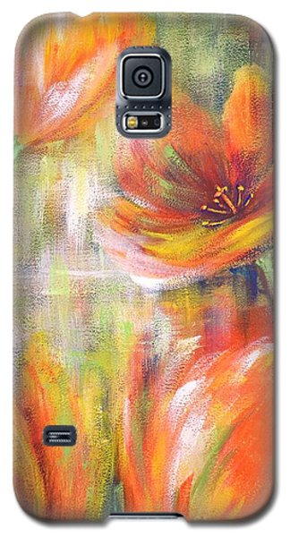 Galaxy S5 Case featuring the painting Tulip Freedom by Kathleen Pio
