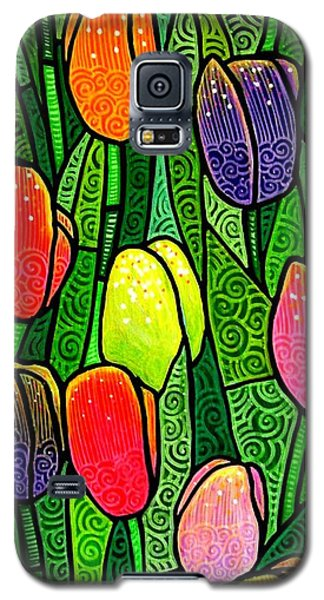 Galaxy S5 Case featuring the painting Tulip Glory by Jim Harris