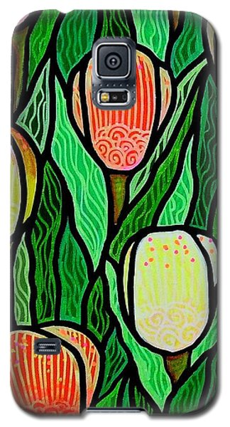 Galaxy S5 Case featuring the painting Tulip Joy 2 by Jim Harris