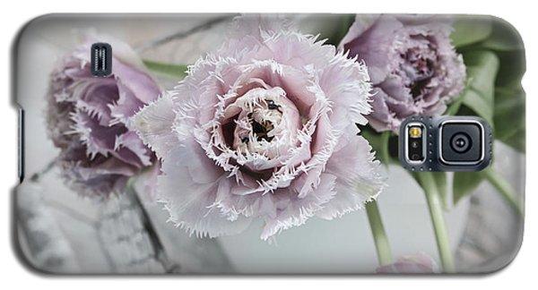Galaxy S5 Case featuring the photograph Tulip Ruffles by Kim Hojnacki