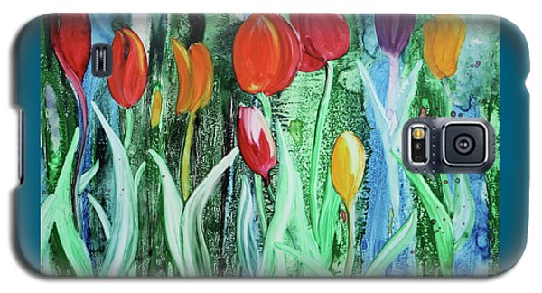 Galaxy S5 Case featuring the painting Tulip Season by Nancy Jolley