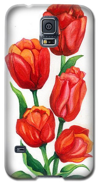 Galaxy S5 Case featuring the painting Tulip Time by Barbara Jewell