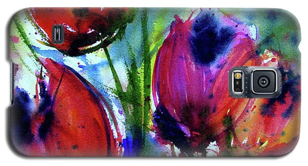 Galaxy S5 Case featuring the painting Tulips 1 by Marti Green