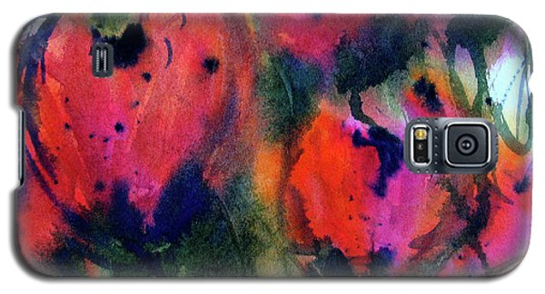 Galaxy S5 Case featuring the painting Tulips 2 by Marti Green