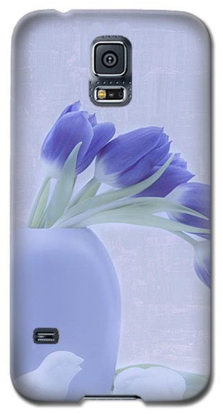 Tulips And Birdies  Galaxy S5 Case