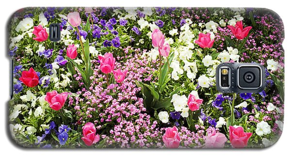 Tulips And Other Colorful Flowers In Spring Galaxy S5 Case by Matthias Hauser
