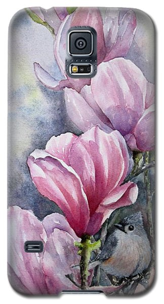 Tulips And Titmouse Galaxy S5 Case