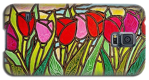 Tulips At Sunrise Galaxy S5 Case