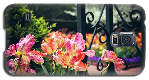Tulips At The Garden Gate Galaxy S5 Case by Jessica Jenney