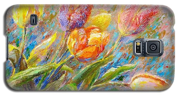 Galaxy S5 Case featuring the painting Tulips by Bonnie Goedecke
