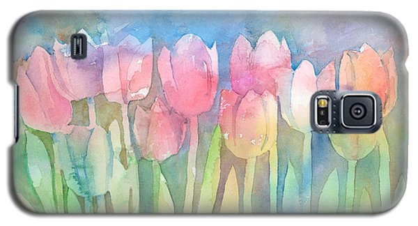 Tulips In A Row Galaxy S5 Case