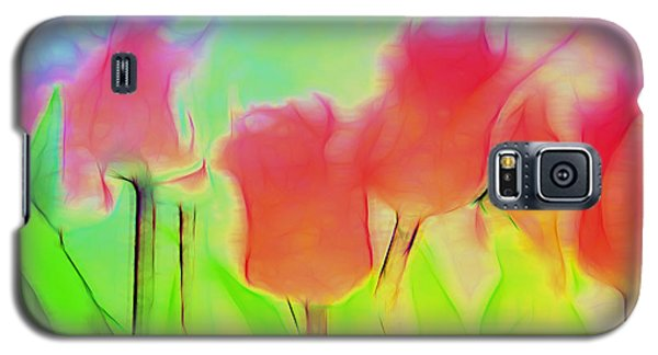 Tulips In Abstract 2 Galaxy S5 Case