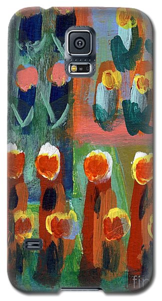 Galaxy S5 Case featuring the painting Tulips by Jan Daniels