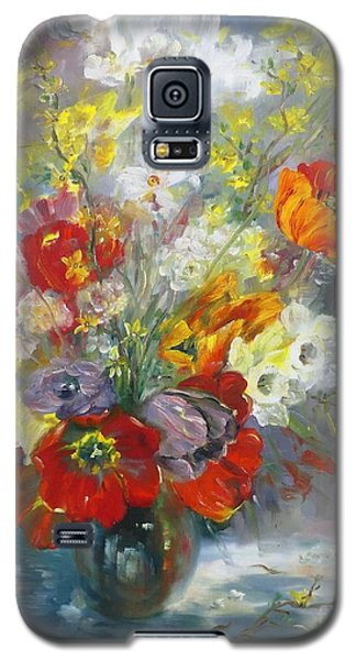 Tulips, Narcissus And Forsythia Galaxy S5 Case