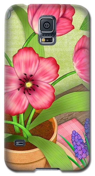 Tulips On A Spring Day Galaxy S5 Case