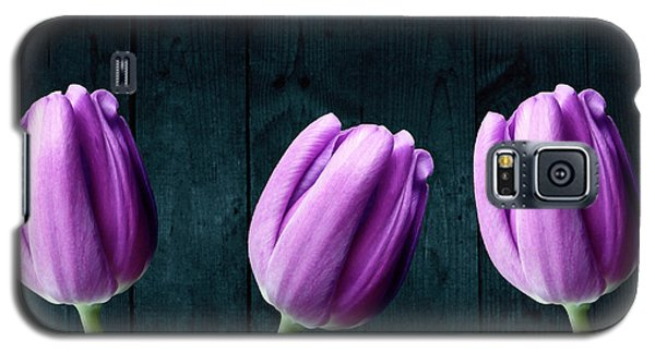 Tulips On Wood Galaxy S5 Case