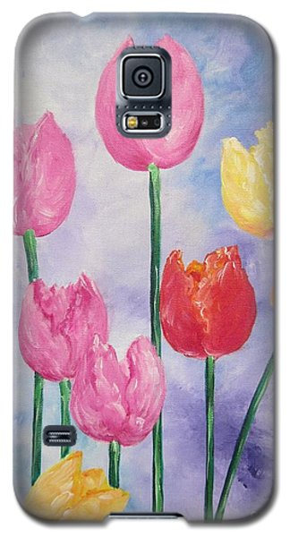 Ten  Simple  Tulips  Pink Red Yellow                                Flying Lamb Productions   Galaxy S5 Case