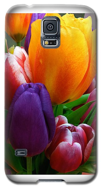 Galaxy S5 Case featuring the photograph Tulips Smiling by Marie Hicks