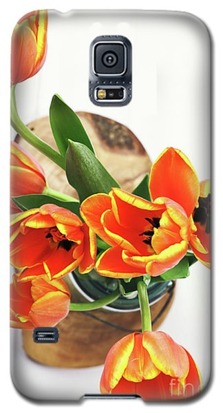Galaxy S5 Case featuring the pyrography Tulips by Stephanie Frey