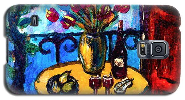 Tulips Wine And Pears Galaxy S5 Case by Karon Melillo DeVega