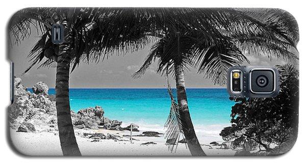Tulum Mexico Beach Color Splash Black And White Galaxy S5 Case