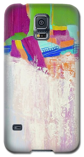 Galaxy S5 Case featuring the painting Tumbling Waters by Irene Hurdle