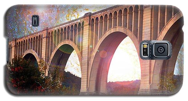 Tunkhannock Viaduct, Nicholson Bridge, Starry Night Fantasy Galaxy S5 Case