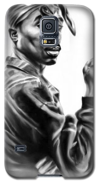 Galaxy S5 Case featuring the painting Tupac Shakur by Darryl Matthews