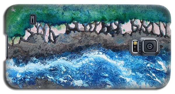 Galaxy S5 Case featuring the painting Turbulent Waters by Antonio Romero