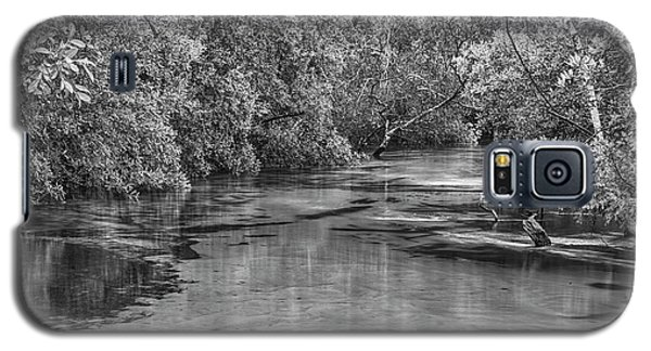 Turkey Creek In Black And White Galaxy S5 Case by JC Findley