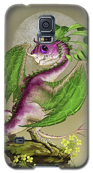 Cricket Galaxy S5 Case - Turnip Dragon by Stanley Morrison