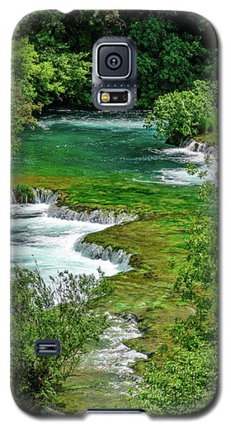 Turqouise Waterfalls Of Skradinski Buk At Krka National Park In Croatia Galaxy S5 Case