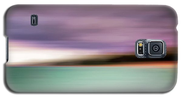Galaxy S5 Case featuring the photograph Turquoise Waters Blurred Abstract by Adam Romanowicz