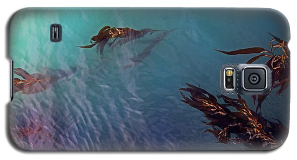 Turquoise Current And Seaweed Galaxy S5 Case by Nareeta Martin