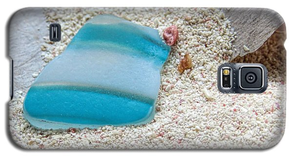Turquoise And White Sea Glass Galaxy S5 Case