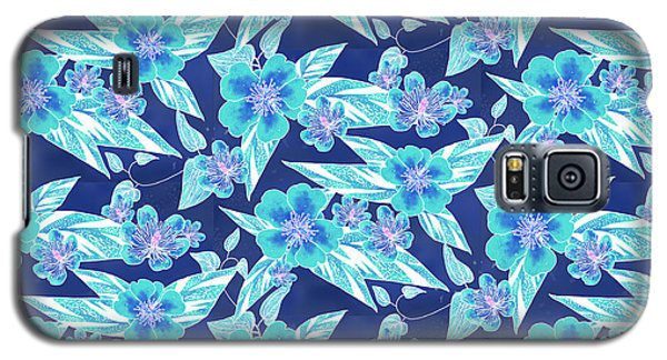 Turquoise Batik Ginger Small Galaxy S5 Case